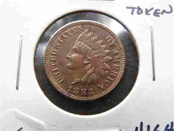 1883 Indian 1c Love Token. High Grade.