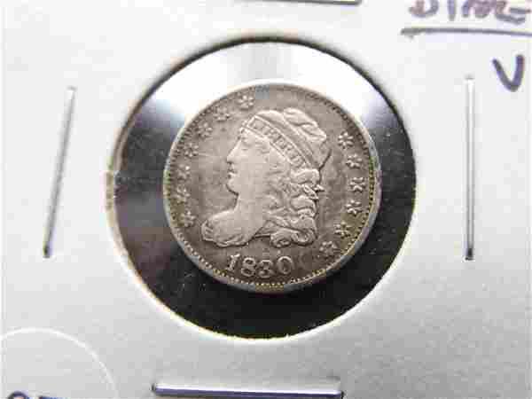 1830 Bust Half Dime. VF. Nice.