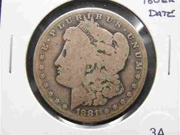 1881-CC Morgan $1. Tough Date.