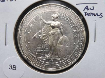 1900-B Great Britain Trade Dollar. AU Details.