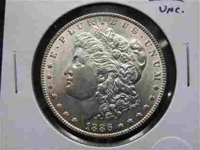 1886 Morgan $1. UNC.