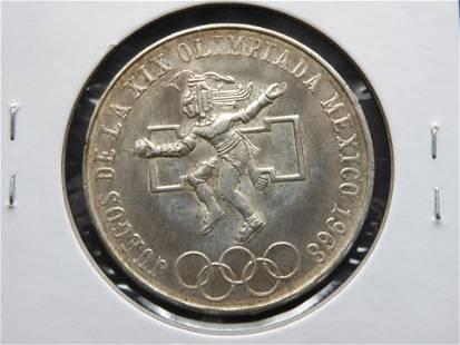 1968 Mexico Silver 25 Pesos.