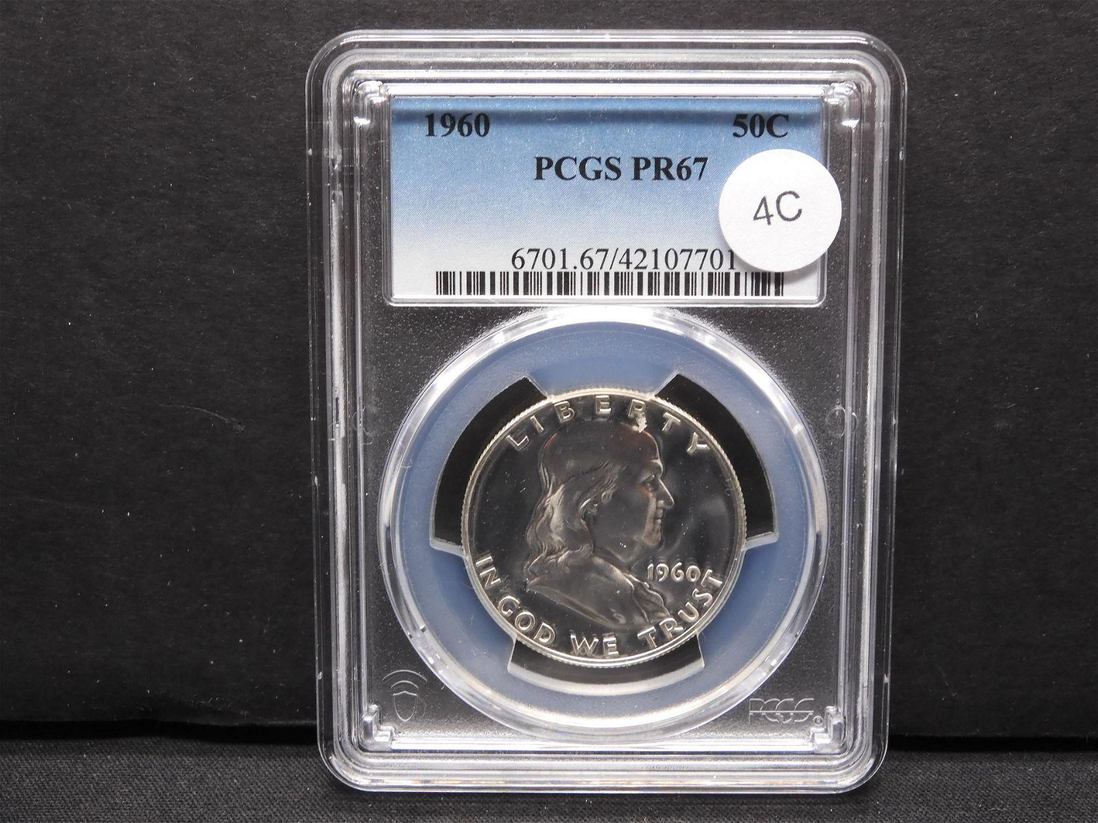 1960 Franklin 50c. PCGS PR67.