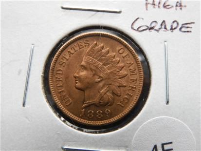 1889 Indian 1c. High Grade.