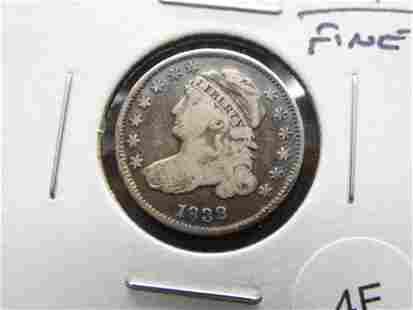 1832 Bust 10c. Fine.