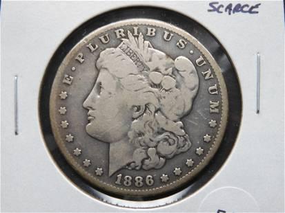1886-S Morgan $1. Scarce.