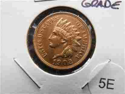 1902 Indian 1c. High Grade.
