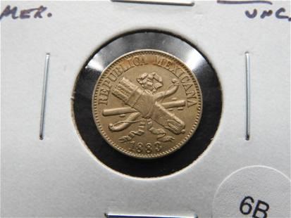 1883 Mexico 1 Centavo. UNC.