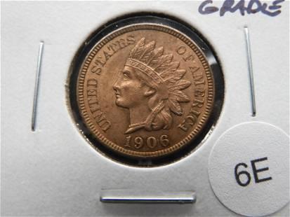 1906 Indian 1c. High Grade.