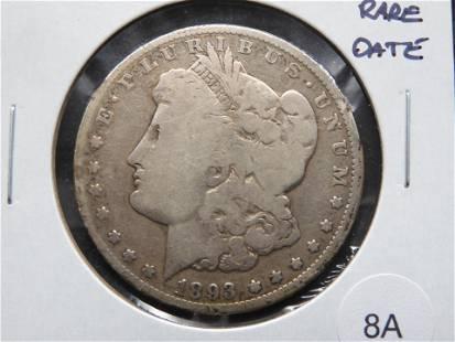 1893-O Morgan $1. Rare Date.