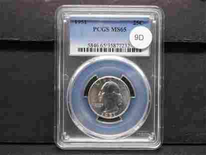 1951 Washington 25c. PCGS MS65.