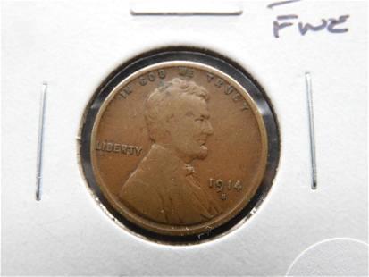 1914-S Lincoln 1c. Fine.