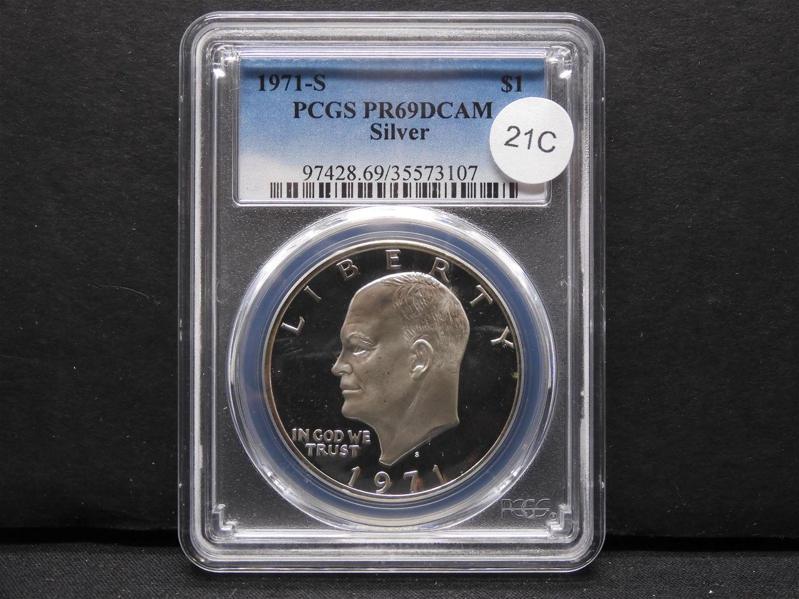 1971-S Ike $1. PCGS PR69DCAM. Silver.