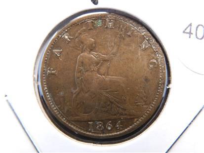 1864 British Farthing