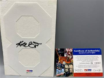 Kobe Bryant Signed #8 Piece - PSA/DNA Authenticated