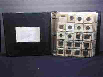 3 Ring Binder w/ 19 Pages of Vintage Chinese Coins -