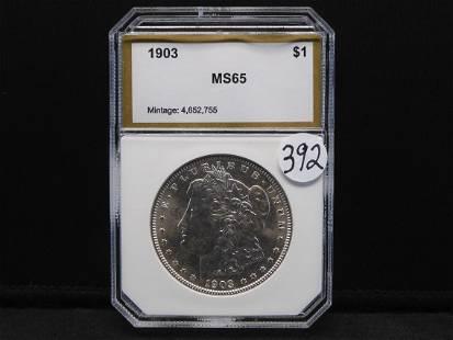 1903 Morgan Silver Dollar - PCI MS65 - Nice Coin!!