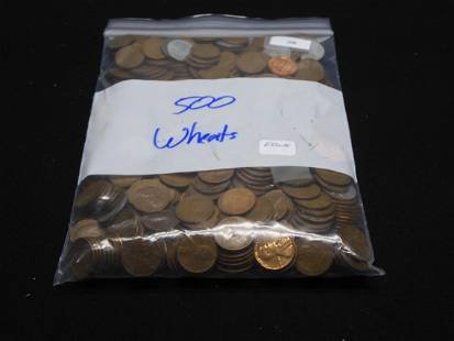500 Ct. Lincoln Wheat Cents