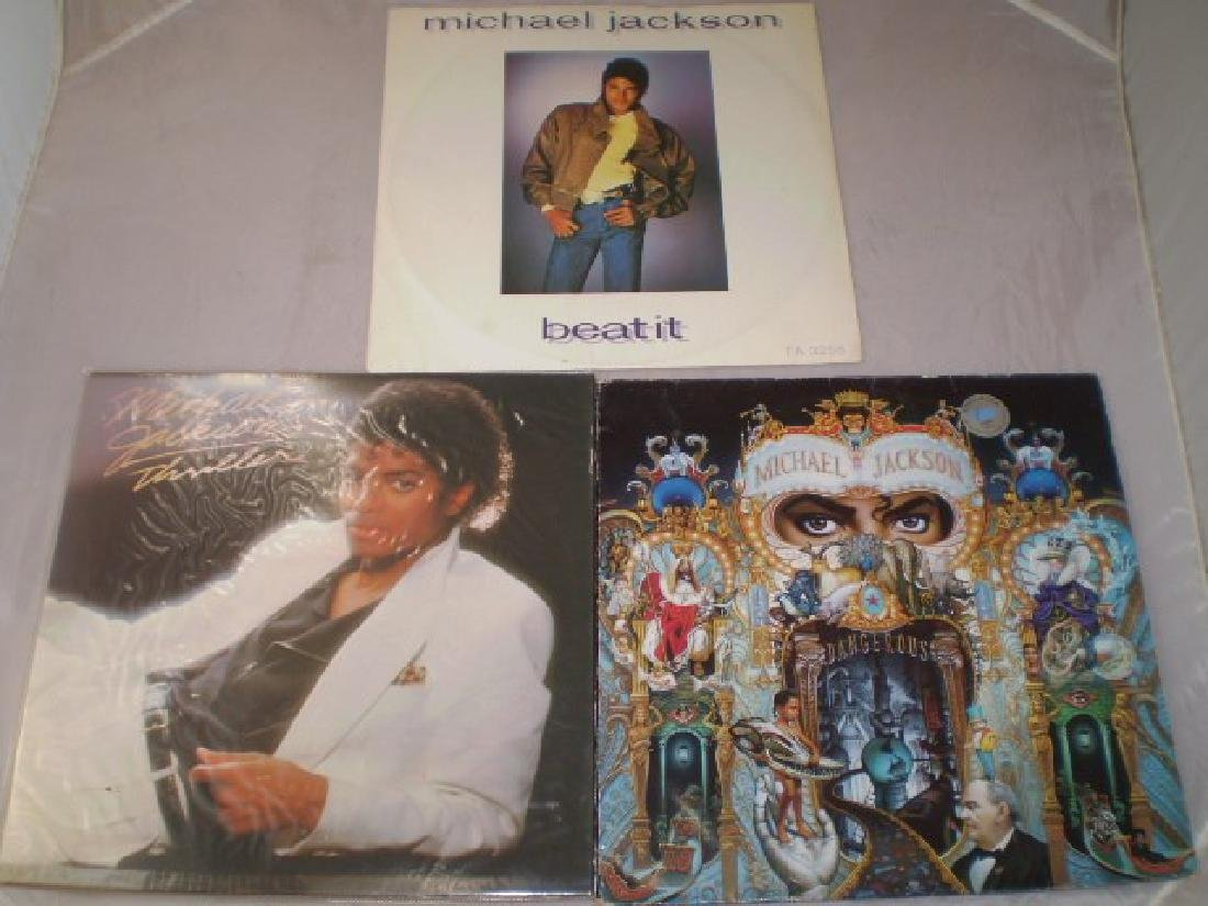 2 MICHAEL JACKSON ALBUMS AND ONE SINGLE 'THRILLER',