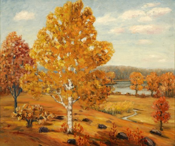 3014: Mathais Wolden  Landscape Oil Canvas