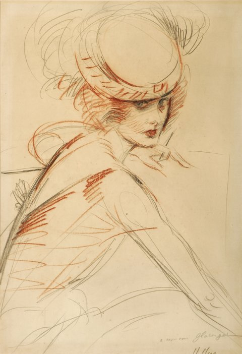 3018: Paul Cesar Helleu Portrait of a Lady