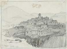 """FRANCISCO LLORENS DÍAZ - """"Pueblo costero"""". 1903"""