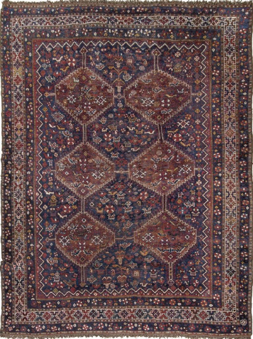 Wool Turkmen rug, early 20th century.
