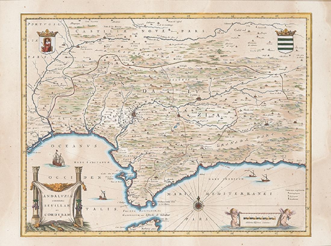 WILLEM JANSZOON BLAEU - Andaluzia continens Sevillam et