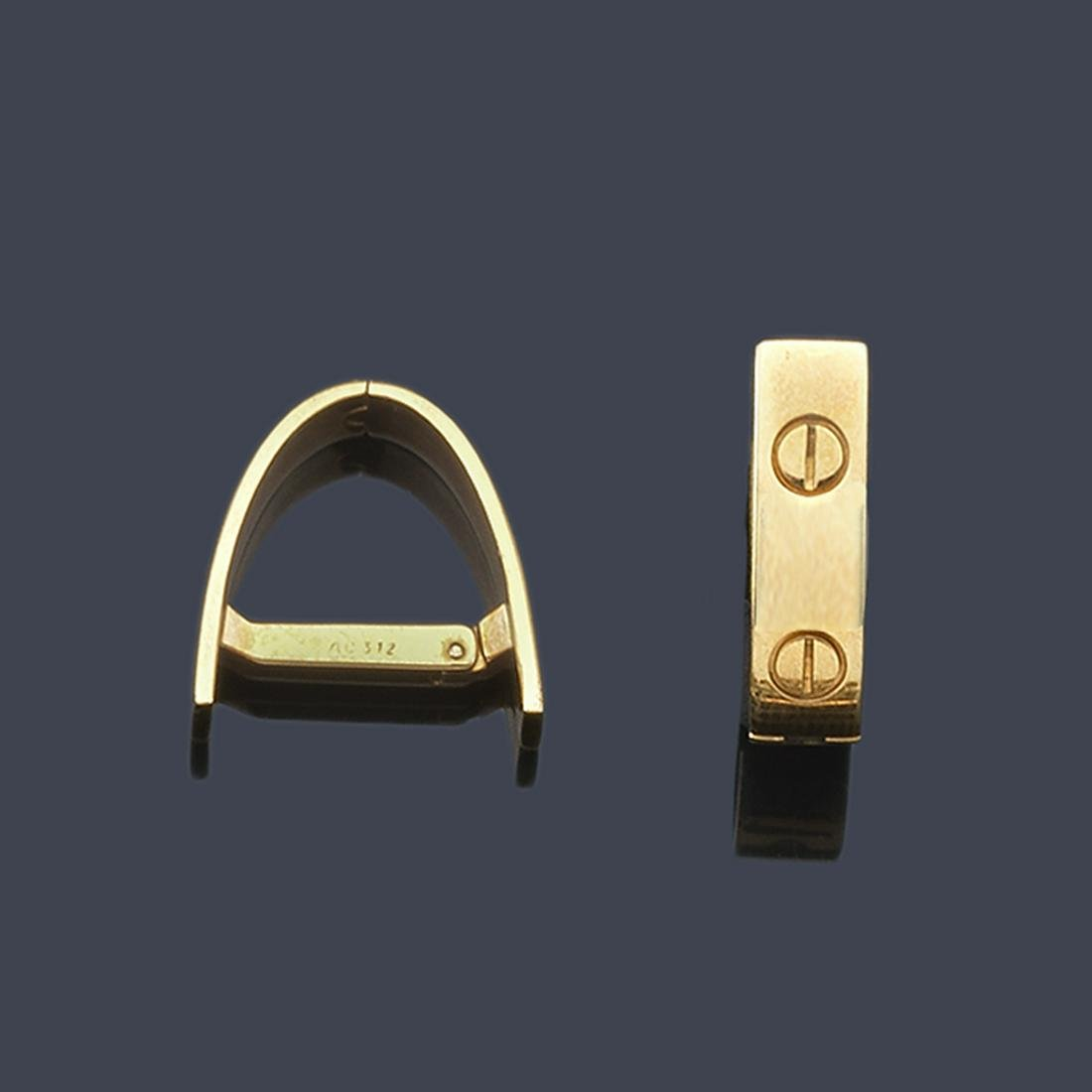 CARTIER - Cufflinks from the 'Love' collection by