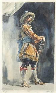 SPANISH SCHOOL S XIX Swordsman 1892