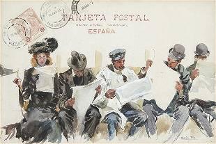 CECILIO PLA Y GALLARDO Postcard