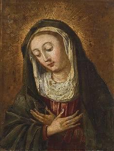 FLEMISH SCHOOL S XVII Virgin in prayer