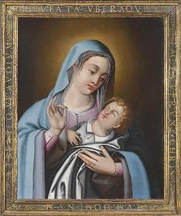 SPANISH SCHOOL FNS S XVIII Virgin with the Child