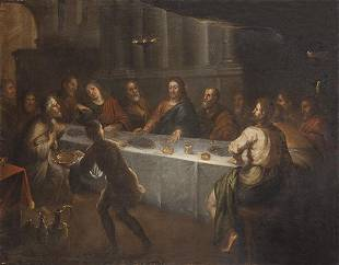 SPANISH SCHOOL FNS S XVII The Last Supper