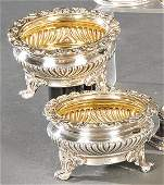 Pair of English silver table specifiers punctured