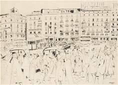JUAN ESPLANDIU - The Puerta del Sol, Madrid