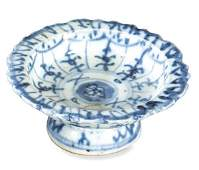 Blue and white Chinese porcelain libation cup for the