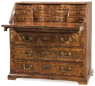 Buró de Carlos IV, in walnut and rosewood with