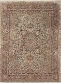 Persian carpet in wool and silk.