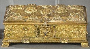 Napoleon III jewelry box in brass