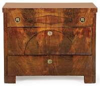Biedermeier chest of drawers with three front drawers