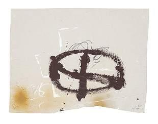 ANTONI TÀPIES Barcelona 1923-2012 Brown