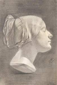 SPANISH SCHOOL 19th - 20th century - Bust of a woman
