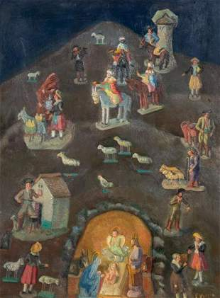 EMILIO VARELA - Nativity scene
