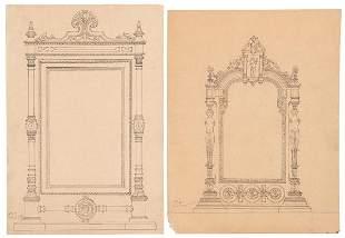 SPANISH SCHOOL 19 th century - Furniture designs for