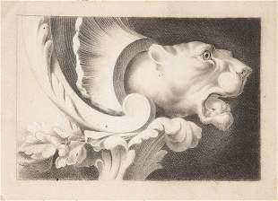 SPANISH SCHOOL 19 th century - Gargoyle with the head
