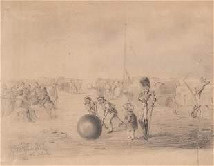 SPANISH SCHOOL 19 th century- Gibraltar defense of the