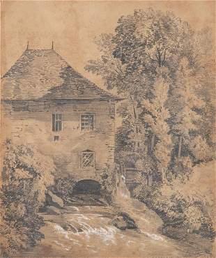 SPANISH SCHOOL 19 th century- Windmill of Xorrosin,