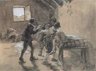 JOSÉ JIMÉNEZ ARANDA - Scene from Don Quixote