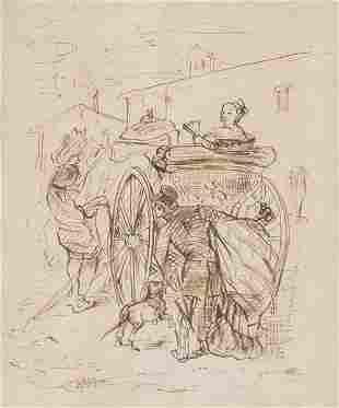 LEONARDO ALENZA - Scene with carriage